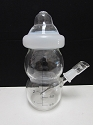 Clear Big Baby Bottle Bubbler W/ Nail & Dome