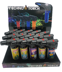 Techno Torch Rick & Morty Backwoods Mixed Designed 1 Flame Torch Lighters 15ct Display Box BWRM