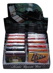 King Size Gambling Themed Cigarette Case 27-85-5 (Buy 12pc $1.99 each)