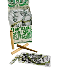 High Hemp Organic 2pk Artisanal Hemp Cones 15ct Display Box