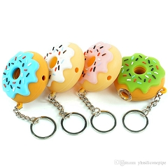 Round Colored Donut Silicone Pipe