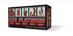 XXX Platinum Crean Chargers 24ct Box (Buy Case of 25 Boxes $7.99 each)