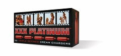 XXX Platinum Cream Chargers 50ct Box (Buy Case of 12 Boxes $16.50 each)