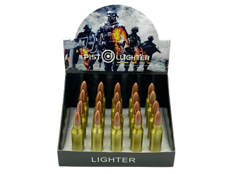 Bullet Single Flame Slide Torch Lighter 20ct Display Box GH-5006