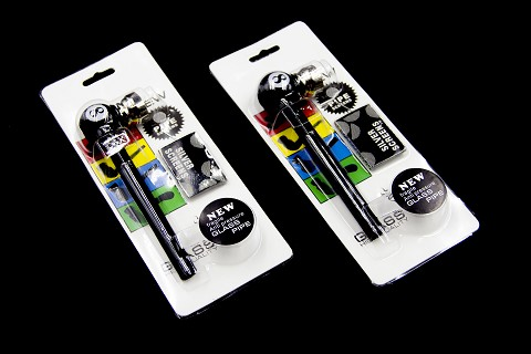 Pool Ball Designs Glass Tube Metal Pipe w/ Screens Kit DK8319B (Buy 12pc Display $2.75 each)