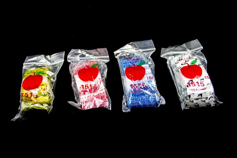 1.5x1.5 Colored Apple Baggies