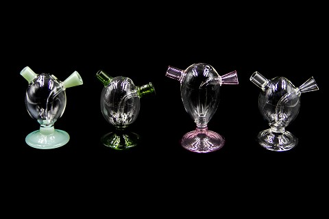 Clear Colored Base Glass Bubbler 3268