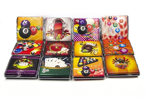 King Size Gambling Themed Cigarette Case (Buy 12pc Display Box $1.99 each) 27-85-5