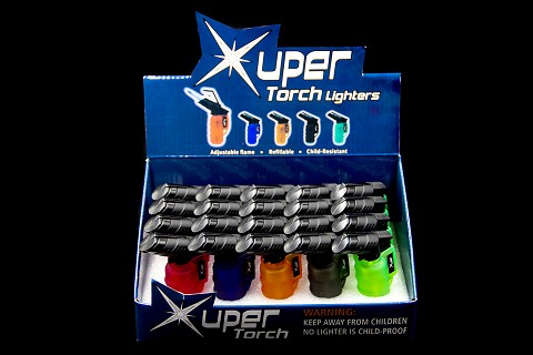 Xuper Torch Angeled Rubber Finish 20ct Display Box 98-1162