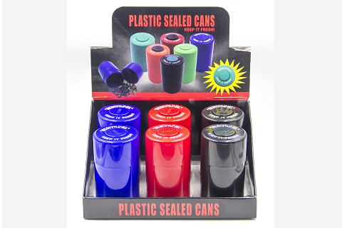Plastic Sealed Cans 6ct Display Box CT-01
