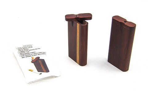 Rosewood Laminated Swivel Top Wood Dugout (Cigarette Not Included) DORBL