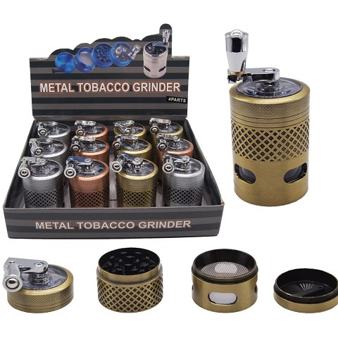40mm 4 Part Copper Designed Handle Aluminum Grinder (Buy 12ct Display Box $5.50 each) GR136-40CP