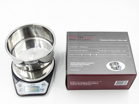 Digiweigh Stainless Steel Bowl 500G/0.01G Scale DW-86