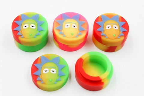 32mm 5ml Colored Rick & Morty Silicone Container
