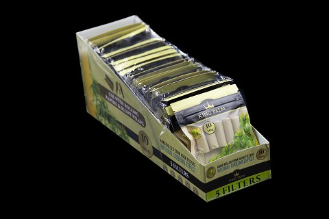 10mm Corn Husk Filters - 24 Units Per Display Box King Palm
