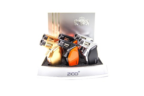 Zico 1 Jet Torch Lighter Mixed Colors 6ct Display ZD-58