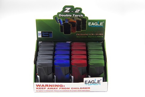 Eagle Torch Z-2 Double Flame Torch Lighter 20ct Display Box
