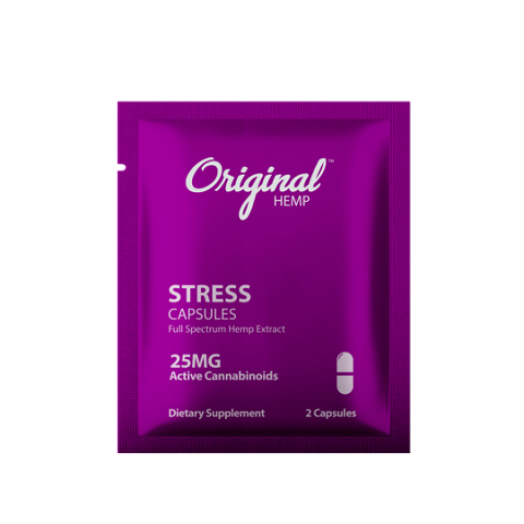 Original Hemp 25mg CBD STRESS Capsules 2pk (Buy 30ct Display Box $2.99 each)