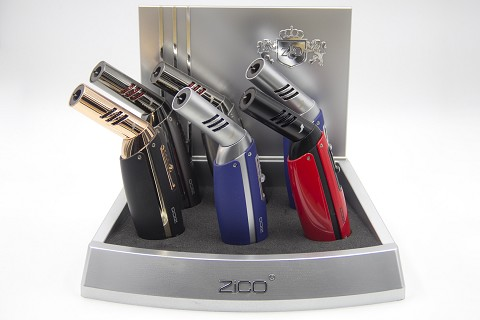 ZD-59 Zico 1 Flame Torch Lighter 6ct Display Box