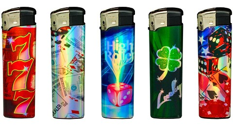 Ignitus Casino Refillable Electronic Lighter 50ct Display