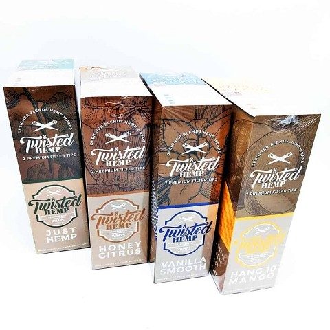 Twisted Hemp Wraps 2 pack 15ct Box (Choose Flavor)