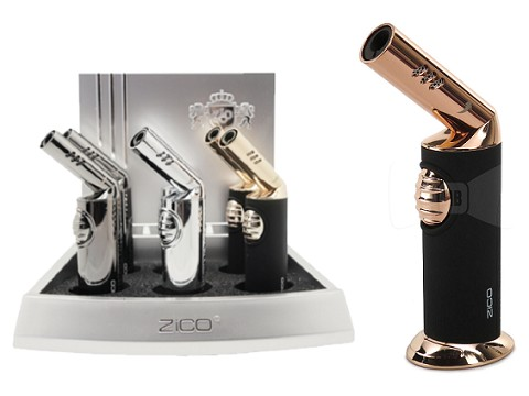 Zico Rotating Head Torch Lighter ZD-37 6ct